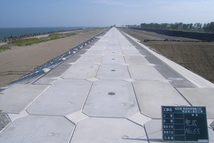 仙台湾南部海岸蒲崎工区南部第5復旧工事