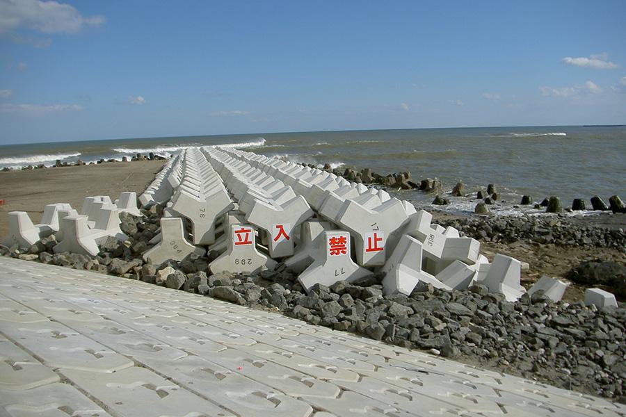 阿武隈川下流寺島1工区堤防復旧工事